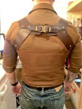 Leather handmade suspenders for mens. Braces, Wedding Groom Suspenders, Gentlema