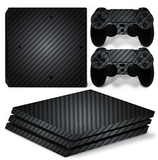 PS4 PRO SKIN GLOSSY 5D BLACK CARBON FIBER