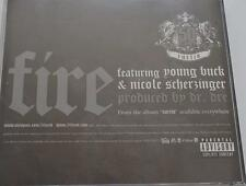 50 Cent: Fire PROMO MUSIC AUDIO CD Nicole Scherzinger Young Buck Dr. Dre 4 track