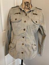 Womens Prototype Army Green  Jacket Sz M Long Sleeve