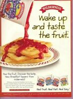 1998 Magazine Print Advertisement Page Wilderness Fruit Toppings Waffle Food Ad