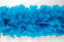 """TURKEY BOA - TURQUOISE 6-8"""" Feathers 2 Yards; Hats/Bridal/Costume/Trim/Craft"""
