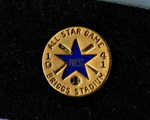 1941 DETROIT TIGERS BASEBALL ALL STAR GAME PRESS PIN IN NEW CASE