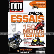 MOTO MAGAZINE HS 19 HORS-SERIE ★ SPECIAL ESSAIS ★ 150 Modèles - Edition 2003