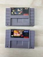 Hey Punk Are You Tuff E Nuff & Batman Forever SNES Super Nintendo Tested Working