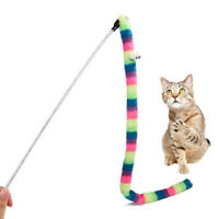 Kitten Cat Pet Toy Chaser Stick Rainbow Snack Streamer Interactive Play Fun  SK