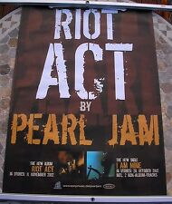 PEARL JAM Riot Act poster 34 x 23 2002 original