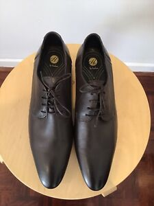 """New Mens HUDSON Brown Leather Lace Up Shoes Size 42"""" Brand New .."""