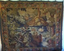 19th CENTURY WOVEN WOOL/SILK LARGE FRENCH TAPESTRY