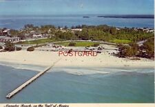 Continental-size Aerial view Manatee Beach o n the Gulf of Mexico Florida 1981