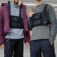 Women Men Tactical Harness Chest Rig Bag Fashion Hip-Hop Streetwear Front Pack