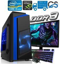 PC da Gaming Veloce Computer Fascio Intel Quad Core i5 8GB 1TB 2GB GT710 Win10