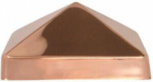 Deck / Fence Post Cap 6x6 Fence Accessory Copper Pyramid Slip Over Cap