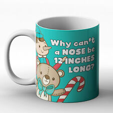Why can't a nose be 12 inches long? Nose joke - Printed Mug