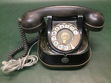Vintage Belgique RTT 56 A Rotary Black Telephone Bakelite Deco Belgium