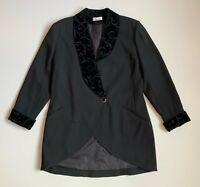 Vintage KL by Karl Lagerfeld 80's Wool Women's Blazer Jacket Size D40 F42 GB16