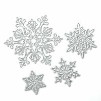 4pcs Christmas Snowflake Cutting Dies Stencils for Scrapbooking Paper Card Craft