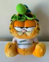 "Dakin 1981 Garfield Bummer I Wanted To Party All Nite Garfield Plush Toy 8"" 21cm"