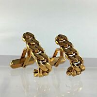 Swank Chain Link Cuff Links Cufflinks Gold Tone Shirt Vintage Wedding Man Gift