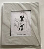 """Quilting Om Gwilda by Xtian Newswanger Prints 1997 - Matted Print 7"""" X 8"""""""