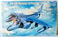 Trumpeter AV-8B Harrier II Plus Aircraft Model Kit 1:32 Scale Adult Collectors