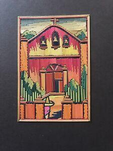 Cholula Reed Painting, Mexican Folk Art