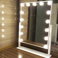 15 Led Bulbs Hollywood Vanity Lights Makeup Standing Mirror on Dressing Table