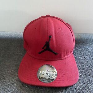 Mens Air Jordan Snapback Hat Cap Red Logo Print