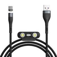 Baseus 5A Ladekabel für iPhone Handy Typ-C Magnet Lightning , Micro-USB