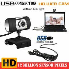 USB 2.0 Web Cam HD Camera Webcam with Microphone for Computer PC Laptop Desktop