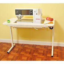 Arrow Gidget II White Sewing MachineTable with Wheels 98611