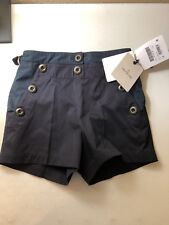 New Moncler Women's 42/US S Navy Bermuda Shorts D10931841280549MR Msrp $425