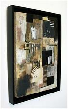 "SUPERB NEW SIMON KIRK ORIGINAL  ""Cocoa"" 2014  ABSTRACT Cubist Cave PAINTING"