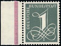 BUND 1960, MiNr. 285 Y II,285 YII, tadellos postfrisch, gepr. Schlegel, Mi. 12,-