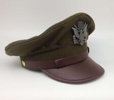 WWII US ARMY AIR CORPS FORCE MILITARY HAT OFFICER WIDE BRIM HAT CAP SIZE M
