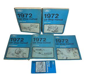 1972 Ford Car Shop Service Manual Complete Set 1-5 1 2 3 3 4 5