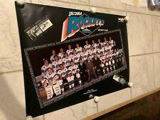 New listing 1991-92 TACOMA ROCKETS Inaugural Season Team Poster WHL Hockey Poster 19X26 NICE