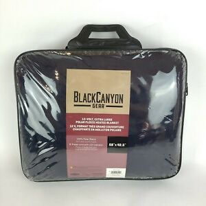 "Black Canyon Gear Fleece Heated Blanket Road Pro Electric 12 Volt 58"" x 42.5"""