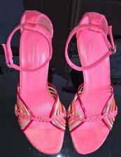 Beautiful French Connection Pink Strappy Heeled Sandals ALL LEATHER EU 36 UK3