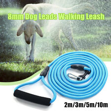 8mm Dog Leads Walking Leash Pet Puppy Belt Training Strap Collar Rope Blue