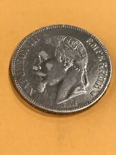 1869 BB France  5 FRANCS NAPOLEON III Silver Crown