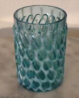 Hobbs Brockunier Windows Swirl Blue Opalescent Tumbler