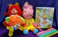Vintage Rainbow Brite Baby Doll with Carrier Pillow Dog Red Sprite & Puzzle
