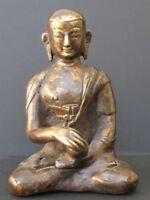 Ancien Moine en Bronze du Tibet