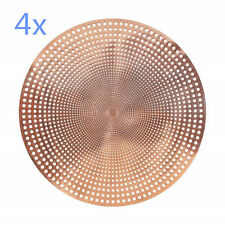 4x ROSE Gold Placemat Table Mat Table PVC Home Decor Place Mats 40cmD