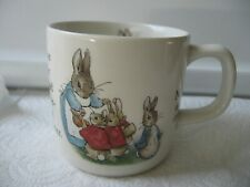 "Beatrix Potter Peter Rabbit Wedgwood of Etruria & Barlaston England 3"" Cup Mug"