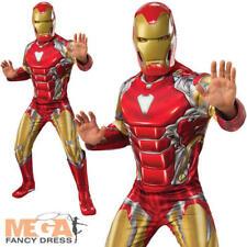 Deluxe Iron Man Mens Fancy Dress Avengers Endgame Adult Superhero Costume Outfit