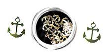 20 Metall-Einleger gold Anker  ca. 4mm. Nailarteinleger. Metalleinleger