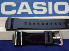 Casio Watch Band GLX-5600 G-Lide Shiny Black Rubber w/Graphics. Strap. Watchband