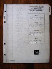 John Deere 190 Pull type Windrower Parts Catalog Manual